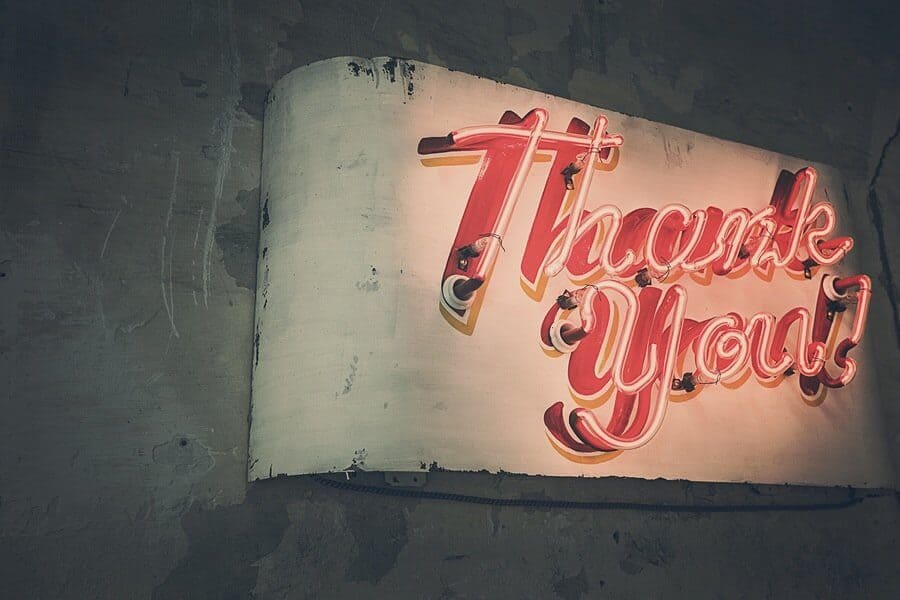 writing thank you email
