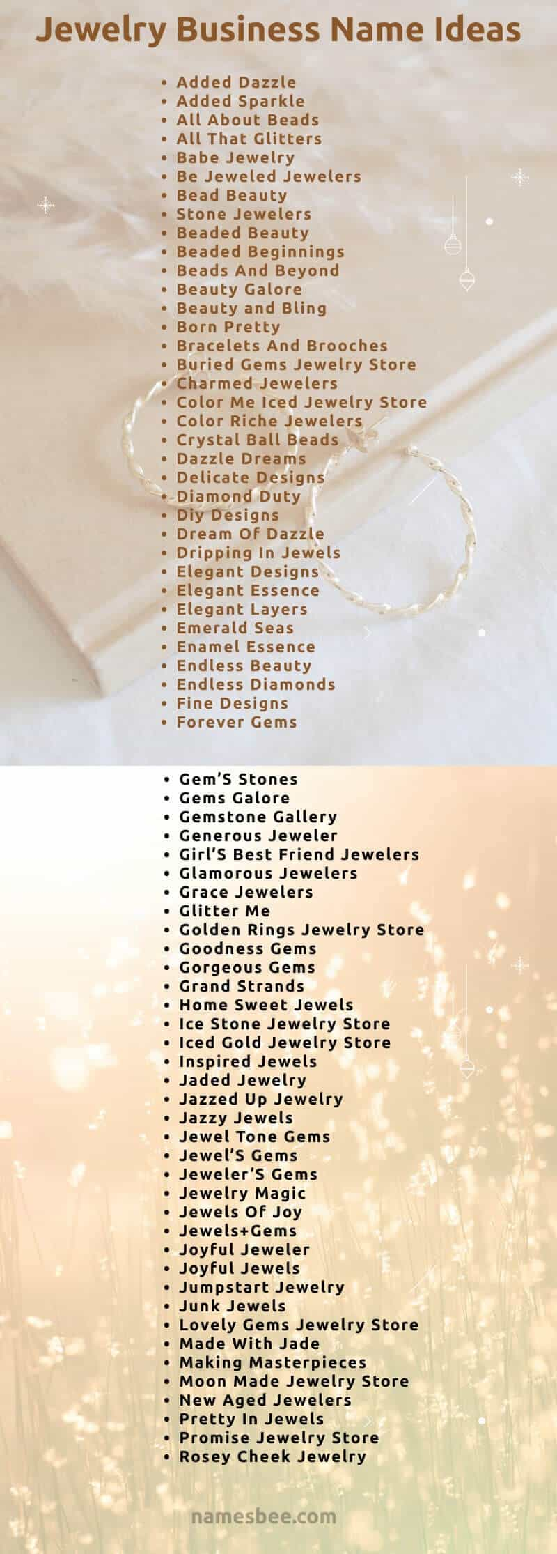 jewelry business names that will make you a brand.