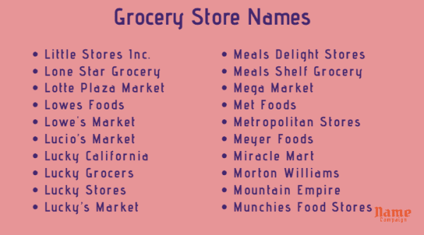 grocery store name ideas
