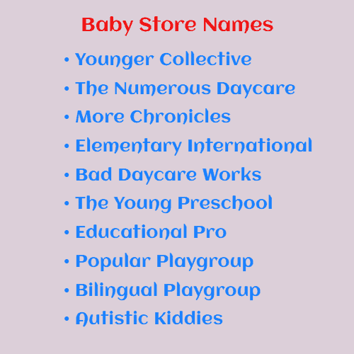 baby store names