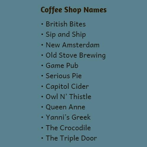 coffee shop names for your startup