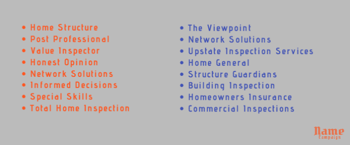 inspection company names ideas for you