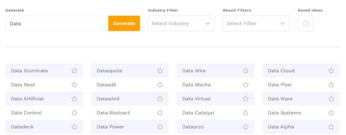 business name generator examples