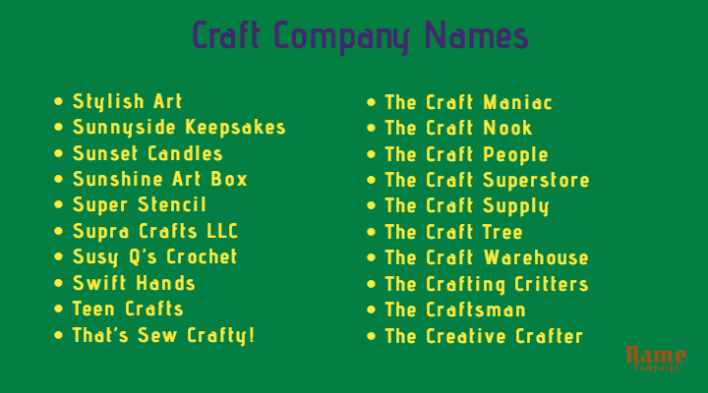 craft store names
