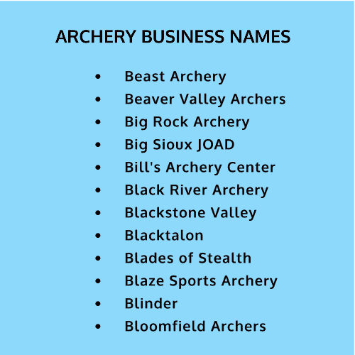 good names for archers and archery business names