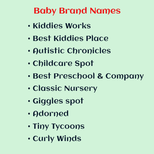 What is a good name for a baby shop?
