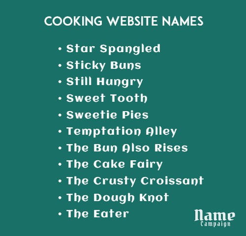 cooking channel names ideas