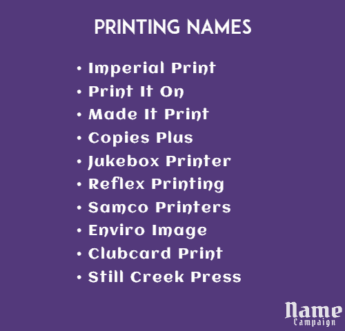 catchy names for printing business