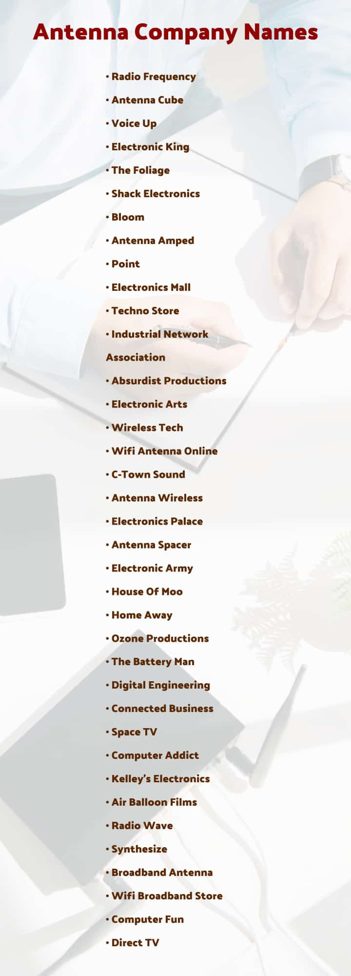 The best antenna company names list