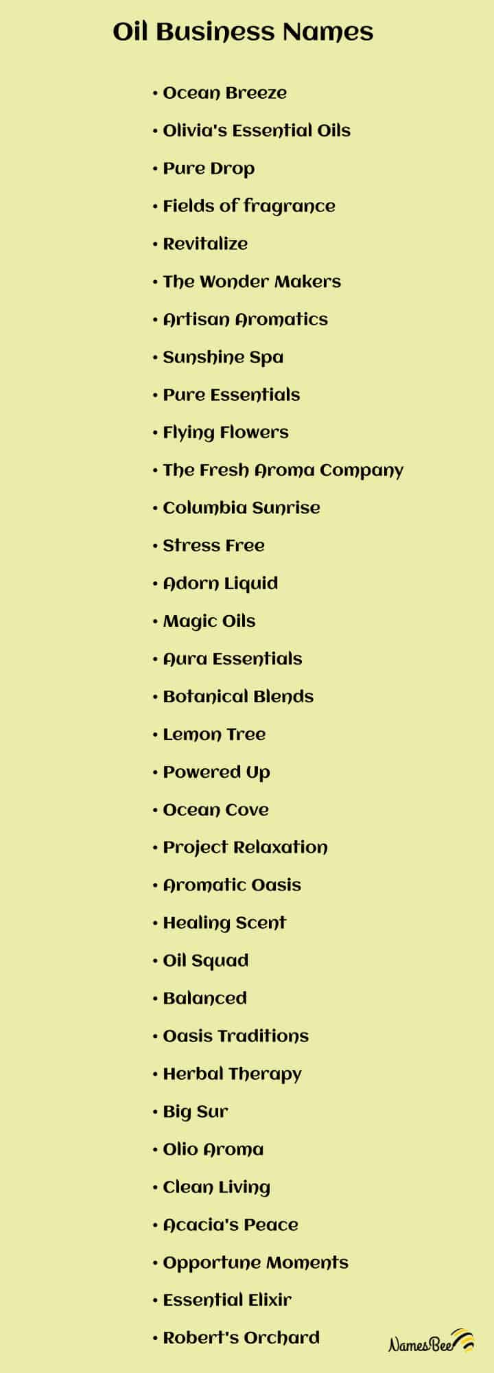 essential oil business name ideas