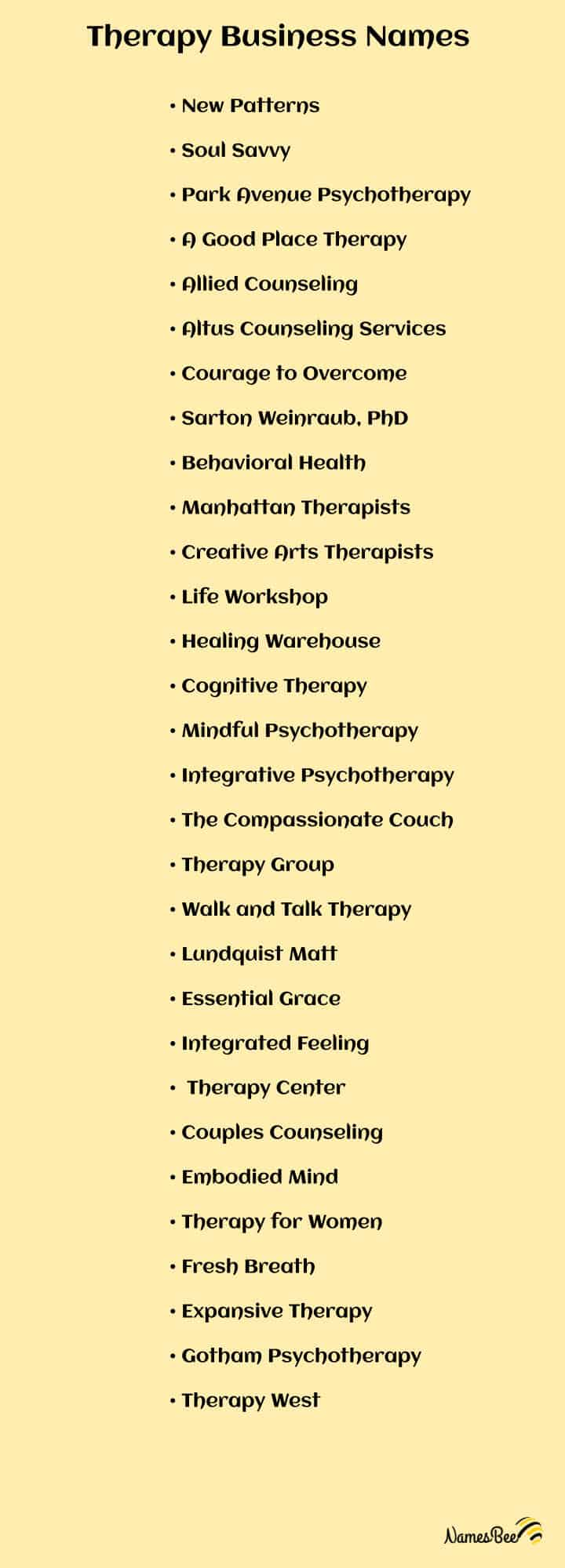 Therapy Business Names ideas
