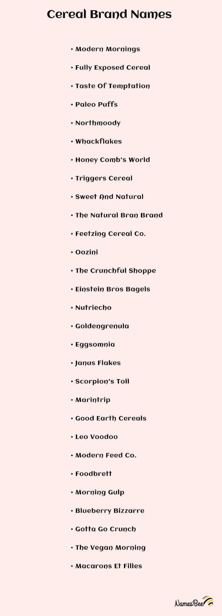 Cereal Brand Names Ideas